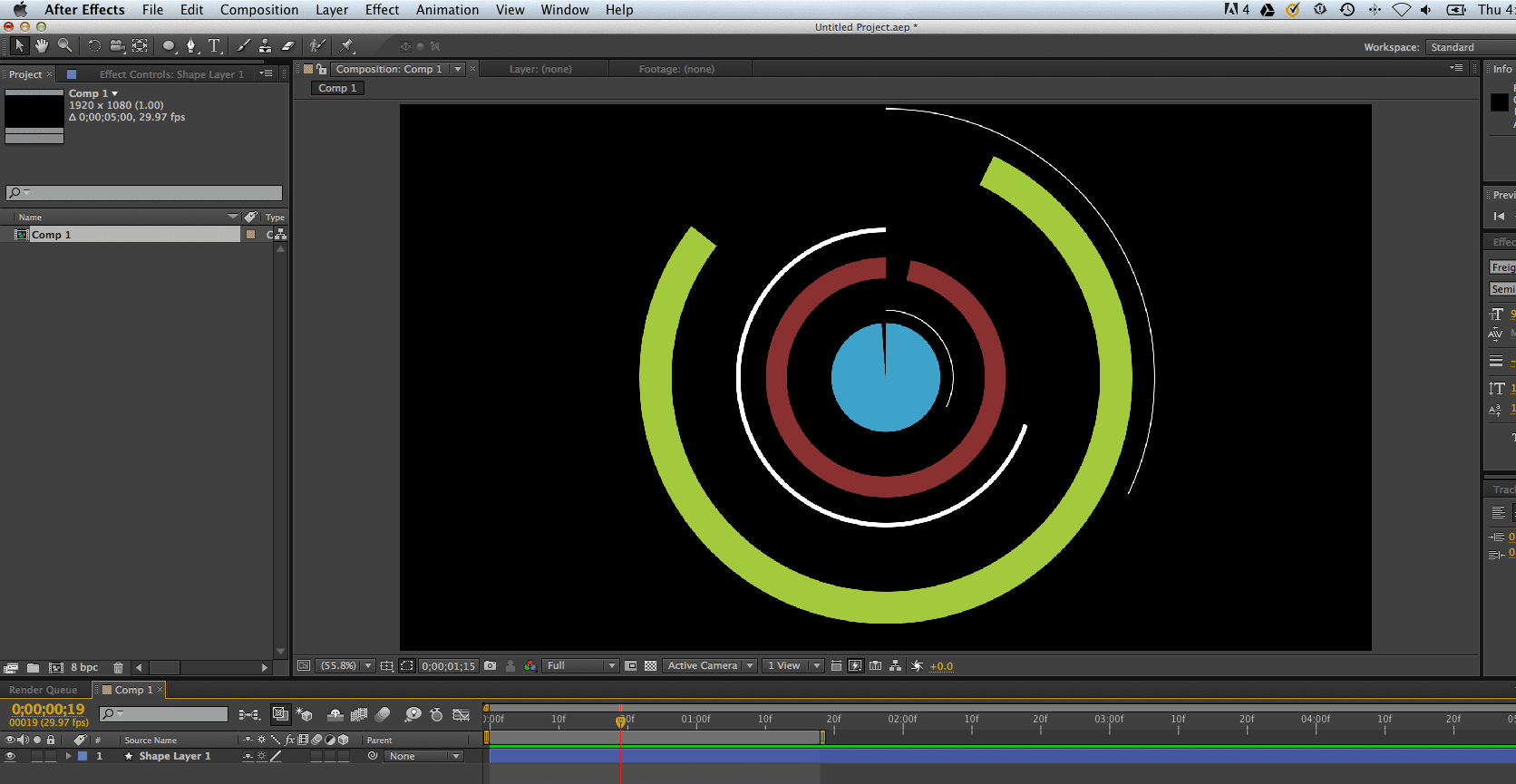 Step 6: Duplicate This Ellipse Or Shape Or Whatever You Created Then Play  Around With The Path Size, Stroke Width, And Speed Of The Keyframes