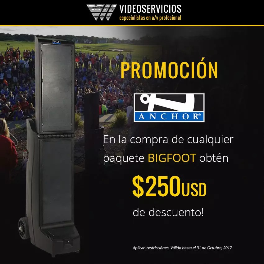 Promo anchor Bigfoot - $250usd descuento