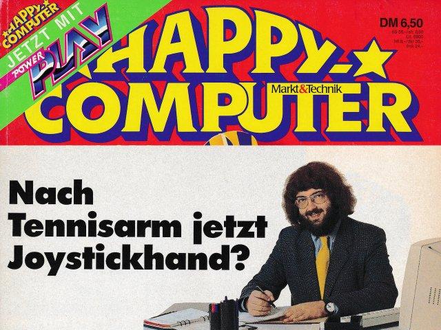 Die Happy Computer mit dem stellvertretendem Chefredakteur Joachim Grafik im Jahr 1989. (Bild: Stephan Ricken / André Eymann)