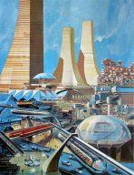 Die Zukunft aus Sicht der 1960er Jahre. (Bild: Pinterest)