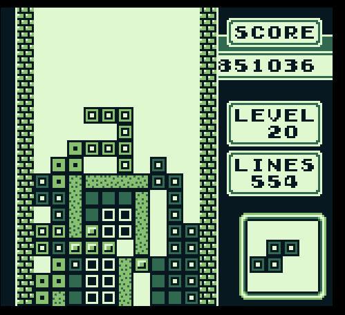 Tetris, hier auf dem Gameboy.
