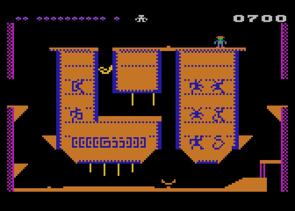 Heimcomputer-Debüt: Pharaoh's Curse für den Atari 800. (Bild: Synapse Software)