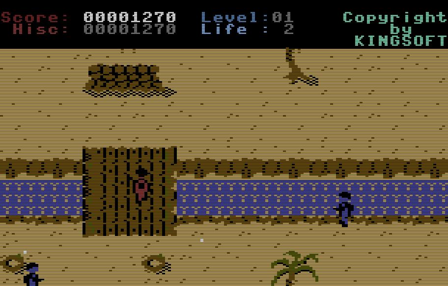Palmen, Brücken, Stacheldraht: in Legionnaire muß der Spieler mit Waffengewalt zu seinem Hauptquartiert vordringen. (Bild: Kingsoft)
