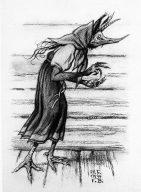 Kikimora: 1934 Illustration von Iwan Bilibin (Bild: Wikipedia)