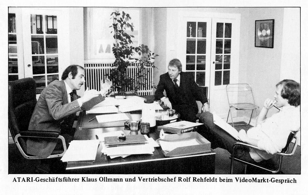 Klaus Ollmann und Rolf Rehfeld zu Zeiten der VideoMarkt 1988. (Bild: Klaus Ollmann)