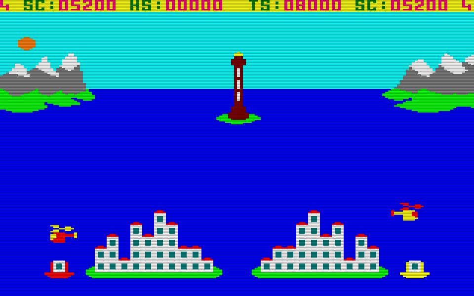 Catastrophes für den Amstrad CPC: so katastrophal sieht es doch gar nicht aus. (Bild: Amsoft)