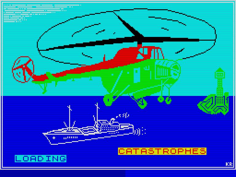 Der Startbildschirm von Catastrophes für den ZX Spectrum. (Bild: Novotrade Rt.)