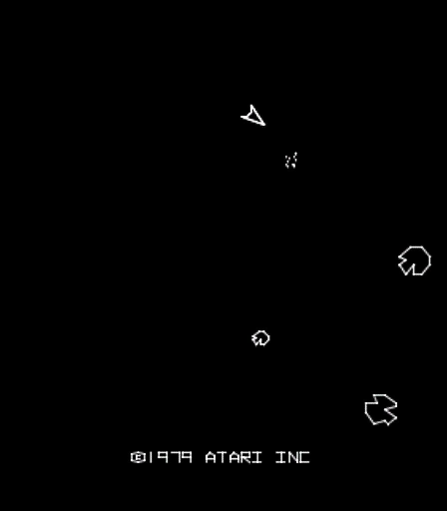 Asteroids von Atari. Mein All-Time-favourite Game! Daran bleibe ich immer wieder hängen. (Bild: Atari)