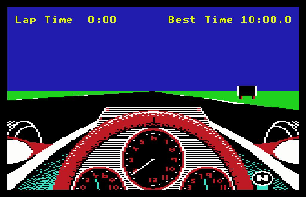Das Heimcomputerspiel Revs von Geoff Crammond für den BBC Micro. (1984)