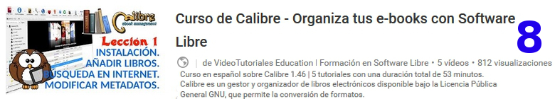 curso del software libre calibre en youtube