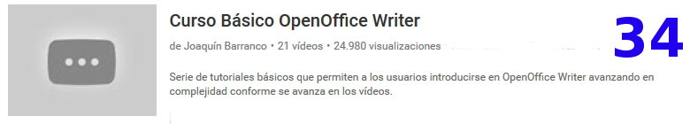curso de openoffice writer en youtube
