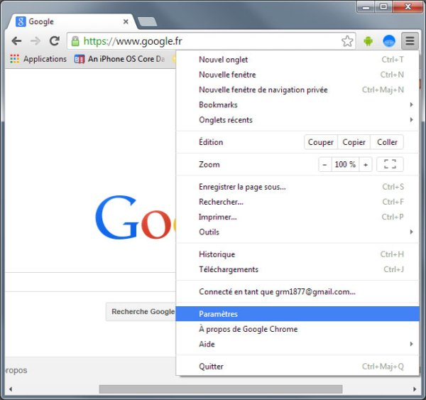 Vider le cache Chrome Windows (le navigateur)