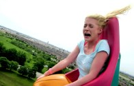 Girl's Hilarious Roller Coaster Reaction