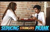 Girl Touching Strangers In Public