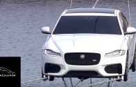 Jaguar XF Performs World's Longest High-Wire Water Crossing