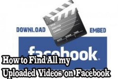 How to Find All my Uploaded Videos on Facebook