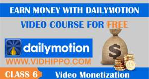 enable Video Monetization on dailymotion