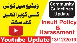 Youtube Harassment & Insult policy