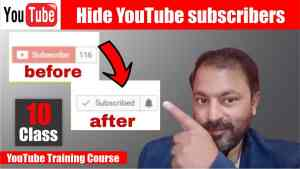 Hide Subscribers on YouTube on Pc