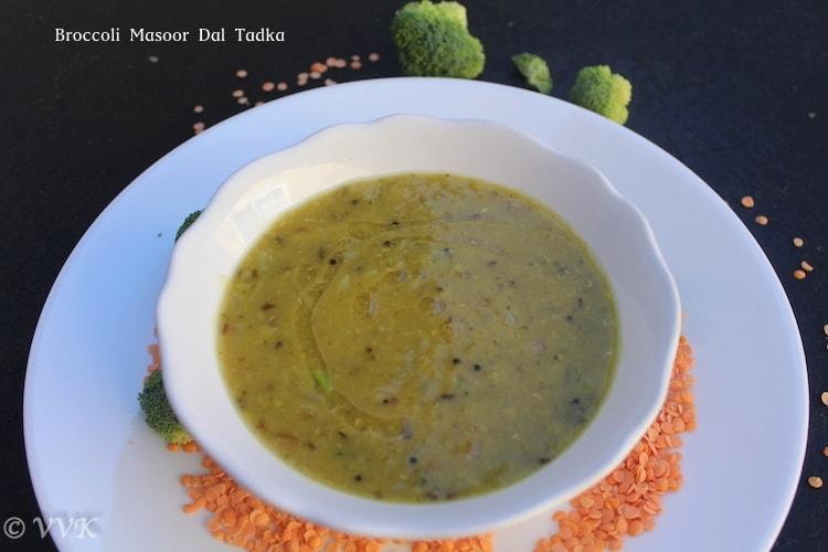 BroccoliMasoorDalTadka
