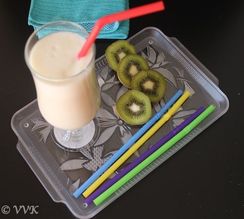 Vanilla Milk Shake With Banana