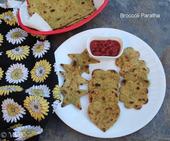 BroccoliParathaWithSambarPowder