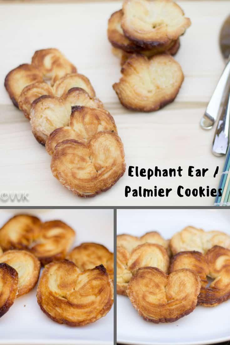 Elephant Ear Cookies | Palmier | Little Heart Sugar Cookies