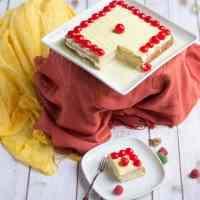 Tres Leches Cake | Eggless Tres Leches Cake with Mango Flavored Whipped Cream Frosting