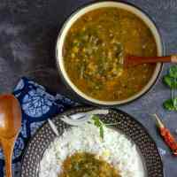 Instant Pot Dal Tadka | Mixed Dal Tadka with Beet Greens