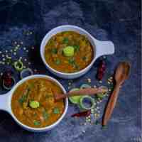 Leeks Sambar | A Simple Sambar with Frozen Toor Dal