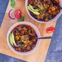 Vegetarian Zucchini Chili | Instant Pot Vegetarian Chili