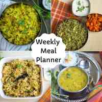 Weekly Meal Planner with Variety Rice Options
