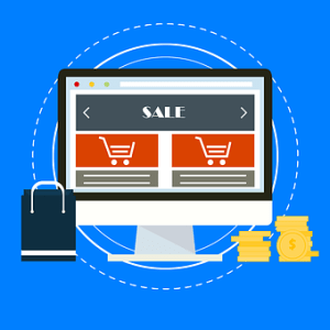 Icon of online shopping