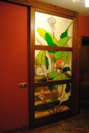Fabricación de vidrios Tiffany para puertas