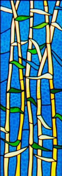 Diseño de vitrales artísticos con motivos florales
