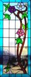 Fabricación de vitral artístico con motivos florales