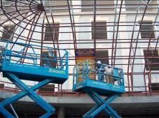 Fabricación de vidrieras de plomo para el Palacio Buenavista