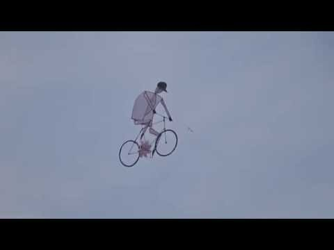 Amazing Bicycle Kite In The Sky