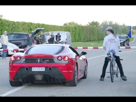 Bike Vs Ferrari And Ferrari Gets Embarrassed