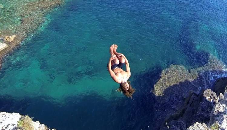 Cliff Diving In Italy