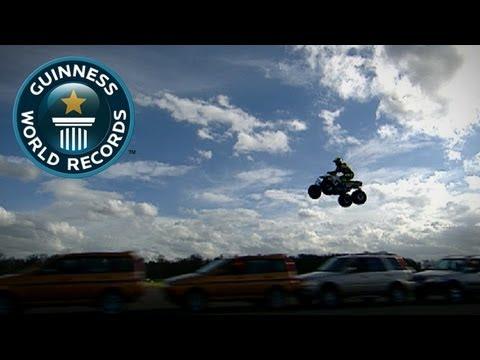 Longest Moving Quad Bike Jump