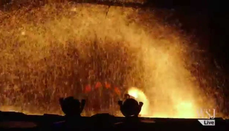 Molten Iron Throwing Festival in China