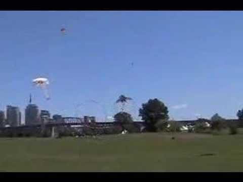 One Guy Flying 3 Kites