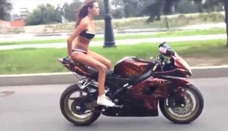 Russian Motorcycle Girl