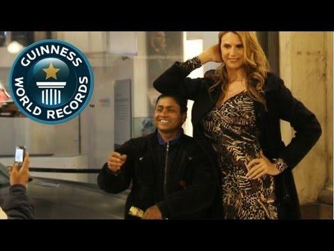 Tallest Professional Model Sets World Record