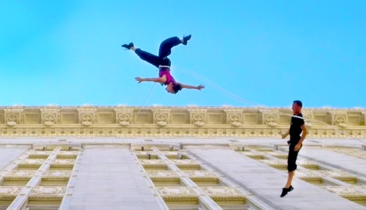 Vertical Dance – Waltz On The Walls Of City Hall