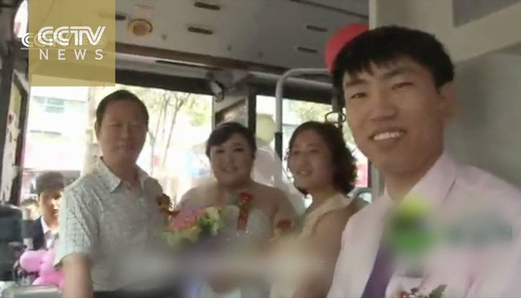 18-Meter Wedding Bus Wows Passers-by