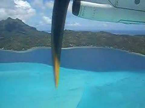 Bora Bora Island from the Airplane