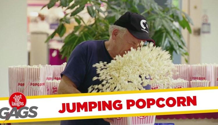 Funny Jumping Popcorn Prank