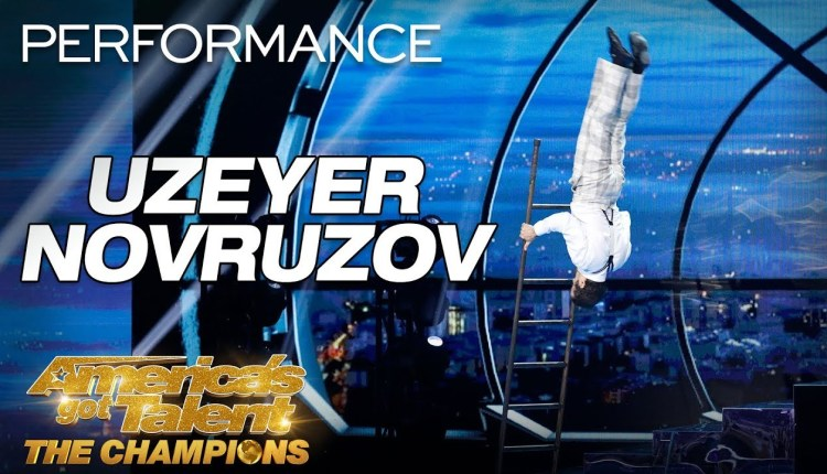 Uzeyer Novruzov's Tall Ladder Act On AGT 2019